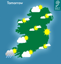 hot weather forecast for ireland
